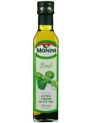 Масло Monini Базилик оливковое 250мл стекло