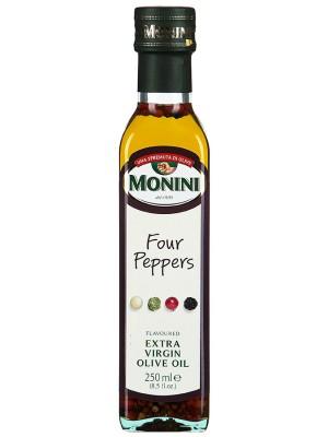 Масло Monini Экстра Вирджин 4 перца оливковое нерафинированное, 250мл стекло