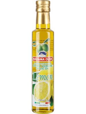 Масло Madama Oliva Extra Vergine Olive Oil оливковое со вкусом лимона, 250мл стекло