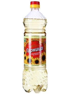 Масло Горница подсолнечное рафинированное без запаха 0,9л