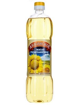 Масло Аннинское подсолнечное рафинированное, 0,9л